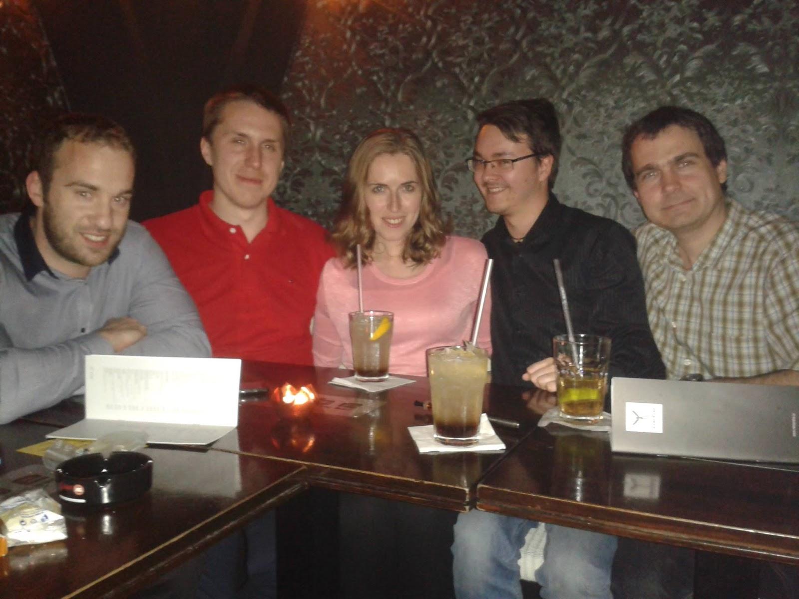 Oslava s přáteli z práce